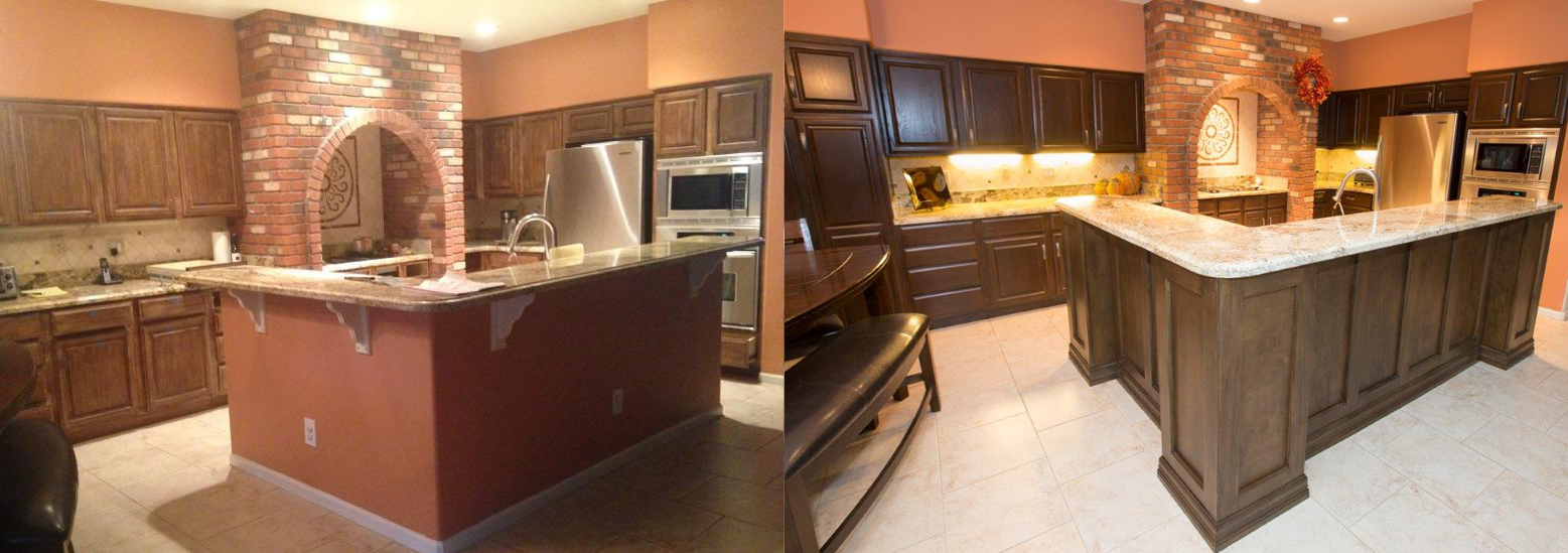 refinished kitchen cabinets before and after amazing