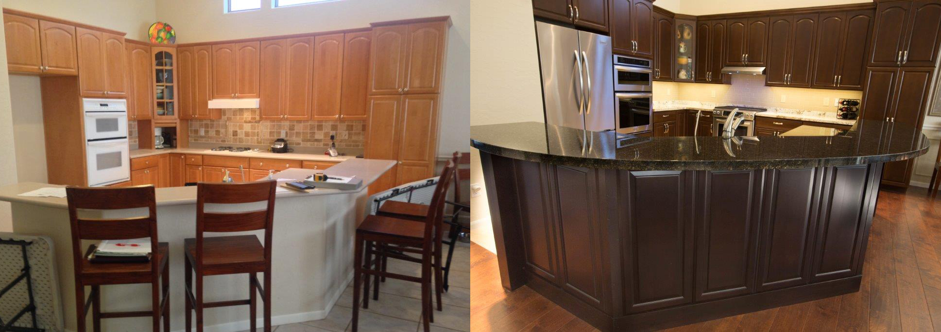 companies that refinish kitchen cabinets cabinet refinishing az amp tempe arizona kitchens 13760